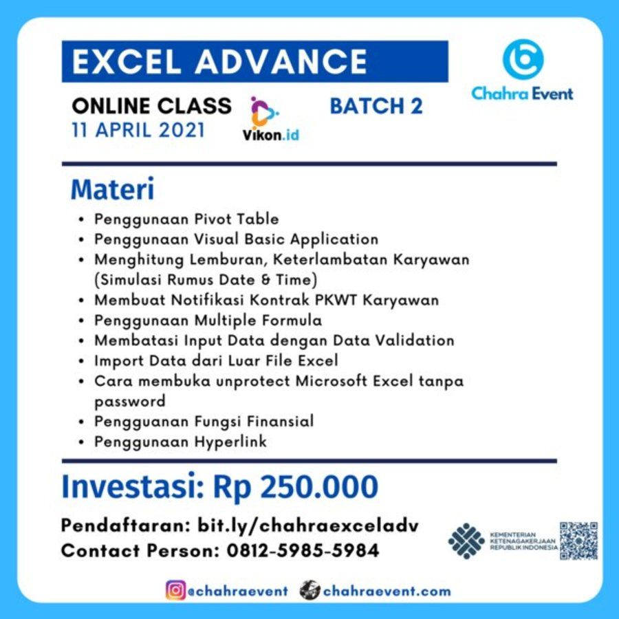 Excel advance batch 2